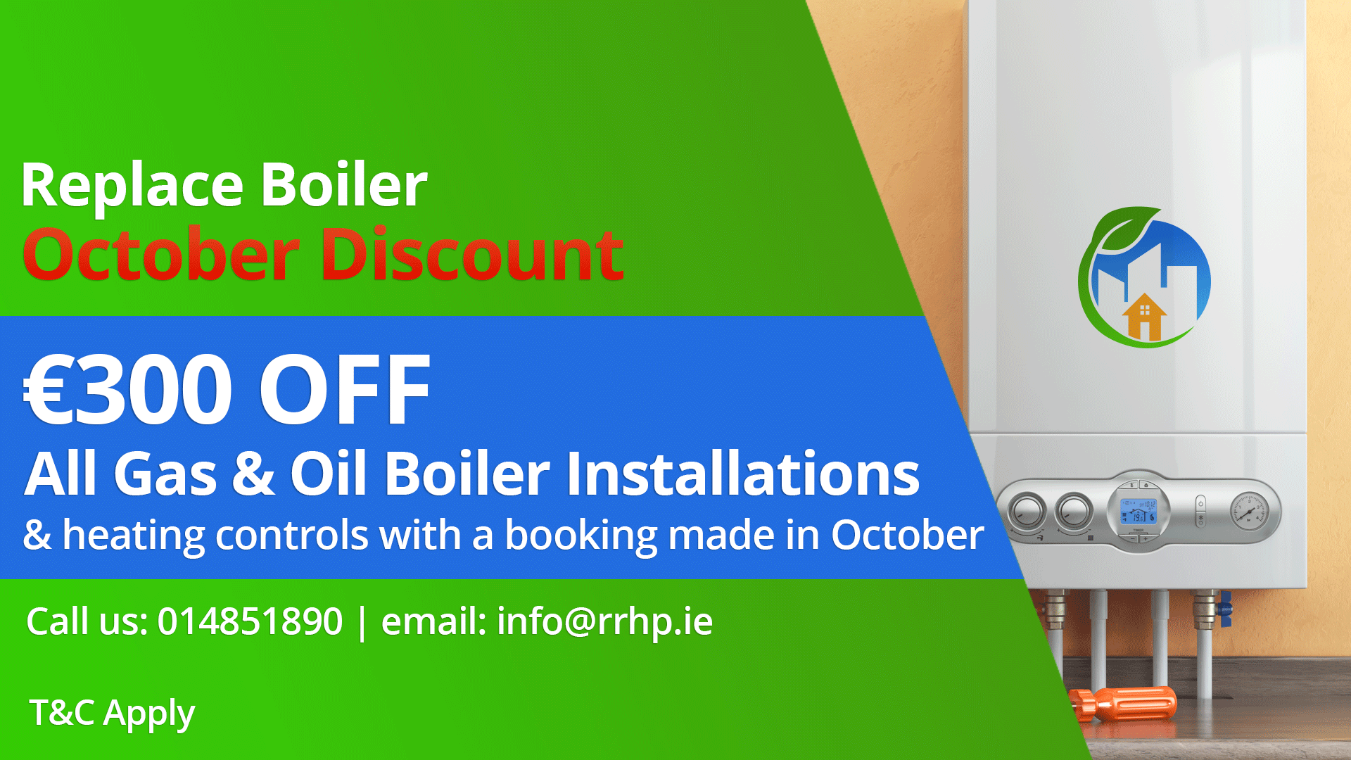 Replace Boiler October discount